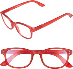 Colorspex 50mm Blue Light Blocking Reading Glasses - Red