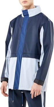 Waterproof Colorblock Tracksuit Jacket With Zip Out Hood