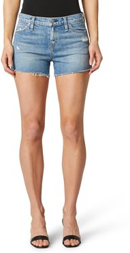 Gemma High Waist Cutoff Denim Shorts