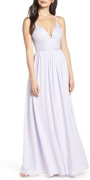 Back Tie Chiffon Evening Dress