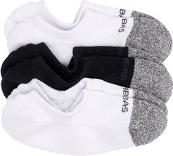 3-Pack Cushioned No-Show Socks