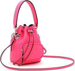 Mini Mon Tresor Leather Bucket Bag - Pink