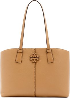 Small Mcgraw Leather Tote - Brown