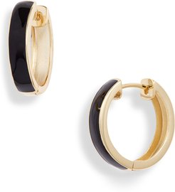 Enamel Plated Hoop Earrings