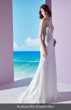 Mischa Lace Panel Gown