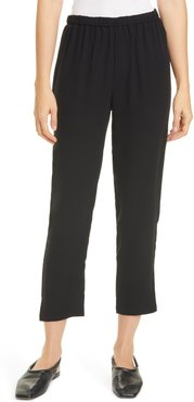 Tapered Silk Pants