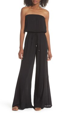Strapless Cover-Up Jumpsuit