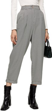Houndstooth Crop Trousers