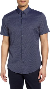 Slim Fit Short Sleeve Button-Up Shirt