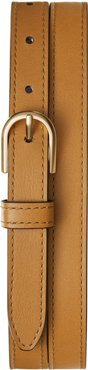 U-Shape Leather Belt Cognac