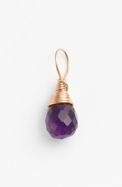 14K-Rose Gold Fill & Semiprecious Stone Charm