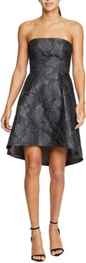 Jacquard Strapless Fit & Flare Cocktail Dress