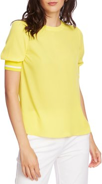 Tipped Trim Blouse
