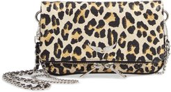 Nano Rock Snake Embossed Leather Clutch -