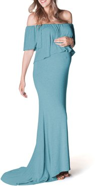 Simply Stunning Off The Shoulder Maternity Maxi Dress