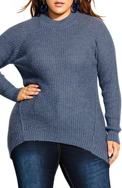Plus Size Women's City Chic Striking Rib Knit Sweater