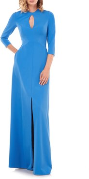 Hannah Stretch Crepe A-Line Gown