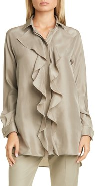 Tefrite Silk Tunic Shirt