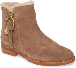 Louise Genuine Shearling Lined Flat Bootie