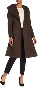 Cole Haan Wool Blend Shawl Collar Belted Coat at Nordstrom Rack
