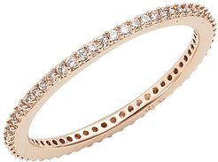 Skinny Cubic Zirconia Pave Band Ring