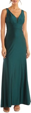 Morgan & Co. Cutout Back Satin Gown at Nordstrom Rack