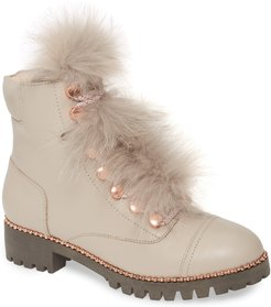 Trekker Boot With Genuine Fox Fur Trim