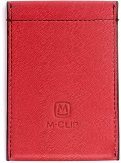 M-Clip Rfid Card Case - Red