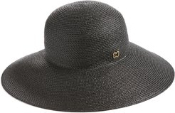 'Hampton' Straw Sun Hat - Black