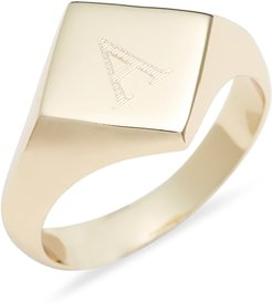 Engraveable Rhombus Signet Ring