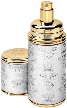 Silver With Gold Trim Leather Atomizer