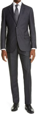 Slim Fit Pin Dot Wool Suit