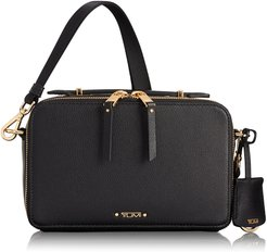 Voyaguer- Aberdeen Leather Crossbody Bag - Black