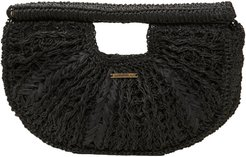 Vices Straw Clutch - Black