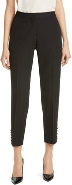 Hanover Satin Stripe Wool Ankle Trousers