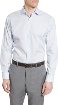 Big & Tall Nordstrom Men's Shop Trim Fit Non-Iron Neat Stretch Dress Shirt