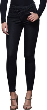 Good Waist Crossover High Waist Ankle Skinny Jeans
