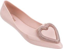 Pointy Heart Jelly Pointed Toe Flat