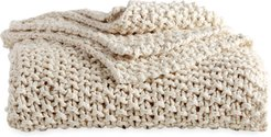 Pure Chunky Knit Throw Blanket