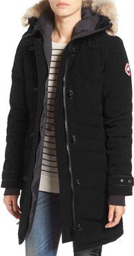 Lorette Hooded Down Parka With Genuine Coyote Fur Trim