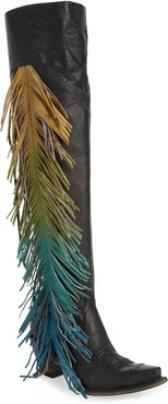 X Junk Gypsy Fringe Over The Knee Western Boot