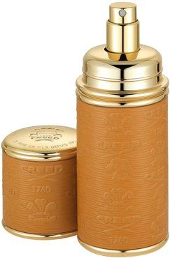 Camel With Gold Trim Leather Atomizer