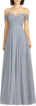 Lux Ruched Off The Shoulder Chiffon Gown