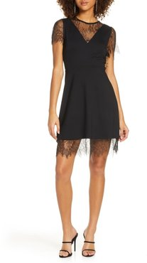 Madalyn Lula Lace Trim Cocktail Dress