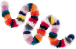 Rainbow Stripe Genuine Fox Fur Scarf