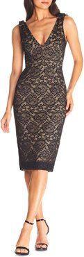 Mary Lace Body-Con Cocktail Dress
