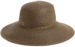 'Hampton' Straw Sun Hat - Brown