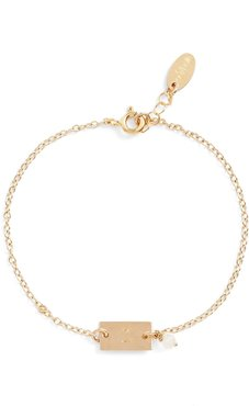 Shaka Initial 14K-Gold Fill Bar Bracelet