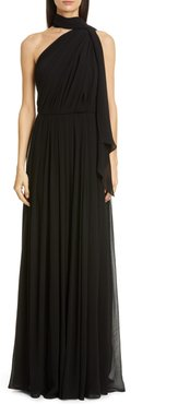 Berger One Shoulder Silk Gown