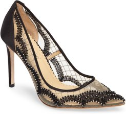 Nadia Scalloped Embroidery Pump